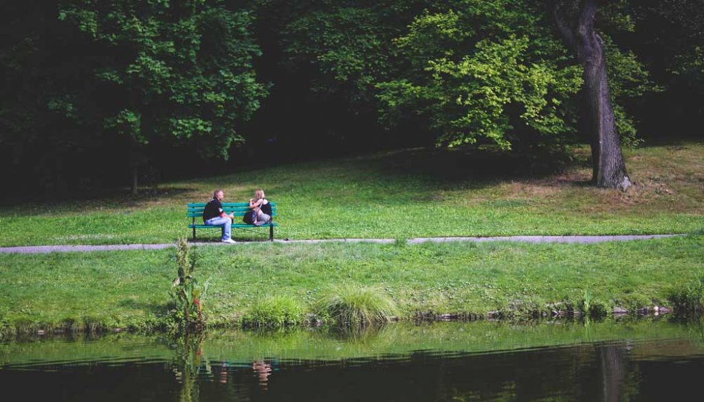 bench couple love people