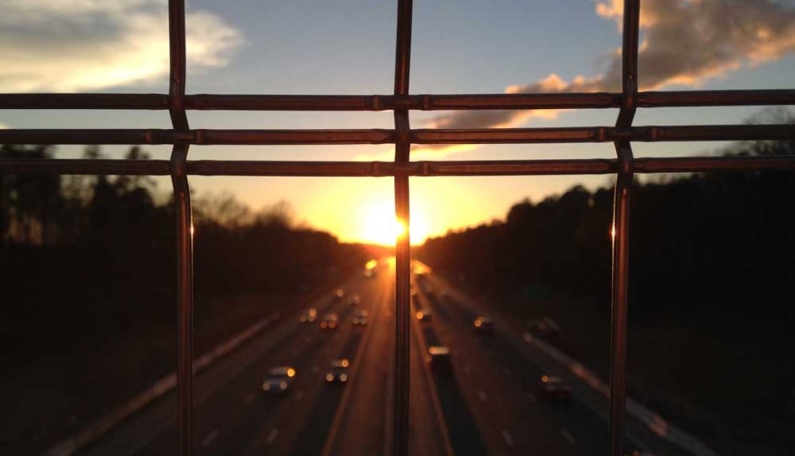cars road traffic dawn