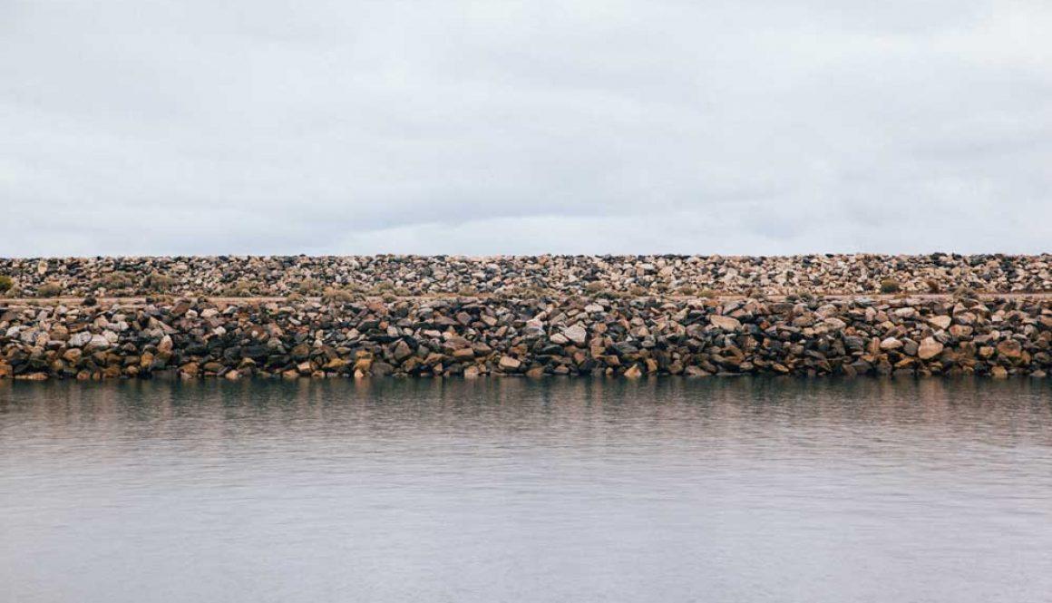 sea ocean rocks stones
